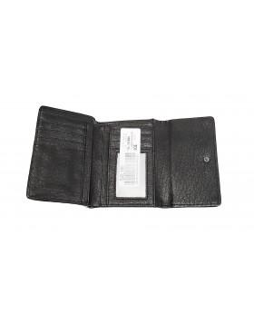 KENNETH COLE REACTION WALLET, SNAP TAB CREDIT CARD C BLACK WASHED DEFEKTNE