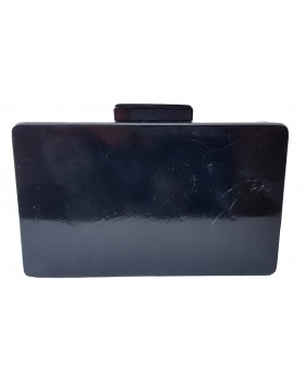INC International Concepts Love Clutch Black DEFEKTNE