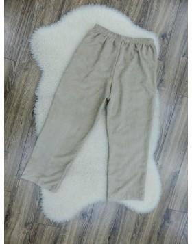 Alfred Dunner beežid kummist värvliosaga sirgelõikelised vaba-aja püksid