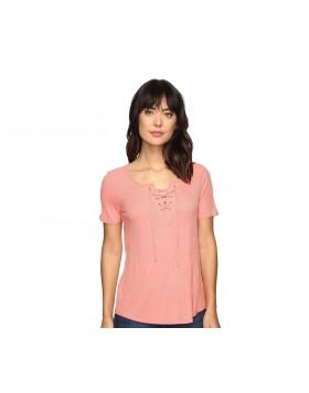 Calvin Klein lõheroosa paeltega T-särk