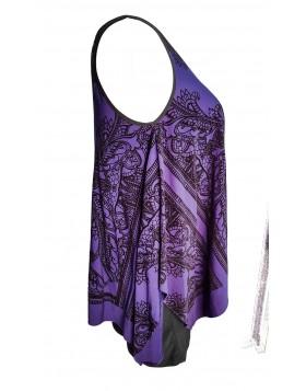 Sally Lou Fashions velvetmustriga kahekihiline kleit
