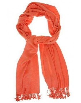JONES NEW YORK SATIN PASHMINA WRAP RUSTY