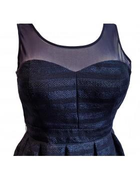 Guess navysinine tugevdatud rinnaosaga puhvis kleit