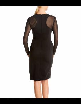 Calvin Klein sifoonvarrukatega must kleit