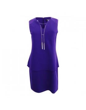 Sally Lou Fashions lilla volangiga kleit